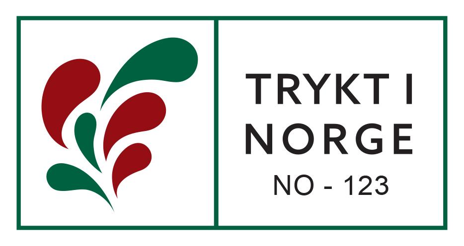 Bildet viser logoen til Trykt i Norge, som et kvalitetsstempel
